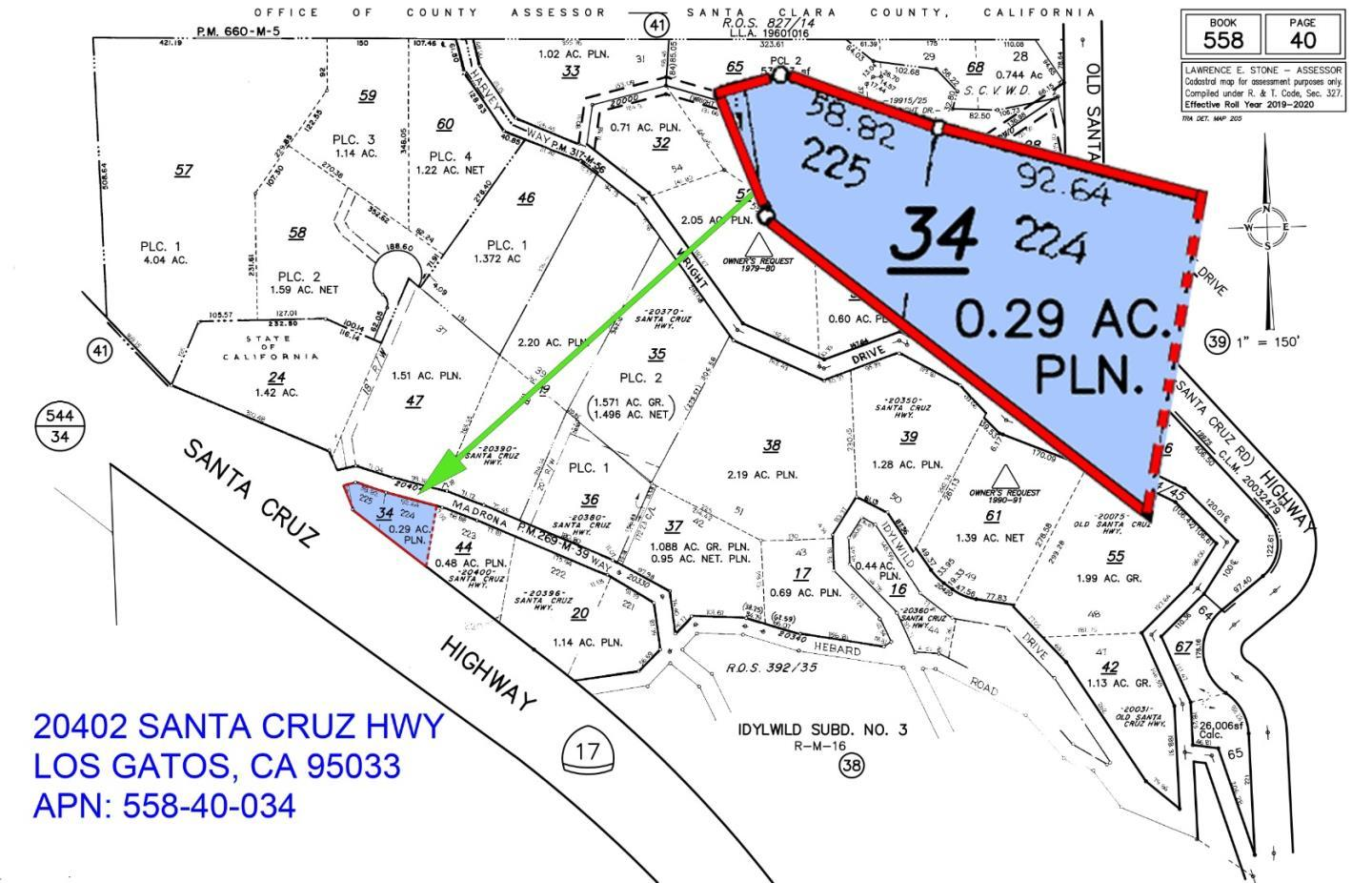 20402 Santa Cruz HWY , LOS GATOS, Vacant Land / Lot,  for sale, Selina Chang, Realty World - Dominion